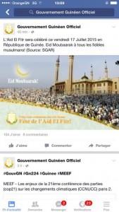 page facebook gouv