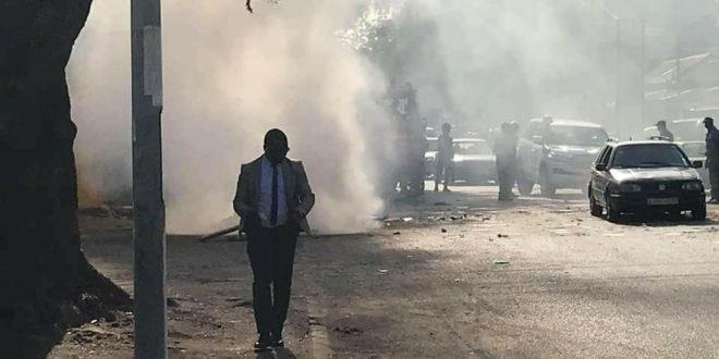 Des manifestations à Kaloum, la route barrée à partir du port — Urgent