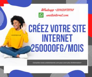 Créez votre site INTERNET 250000FG MOIS